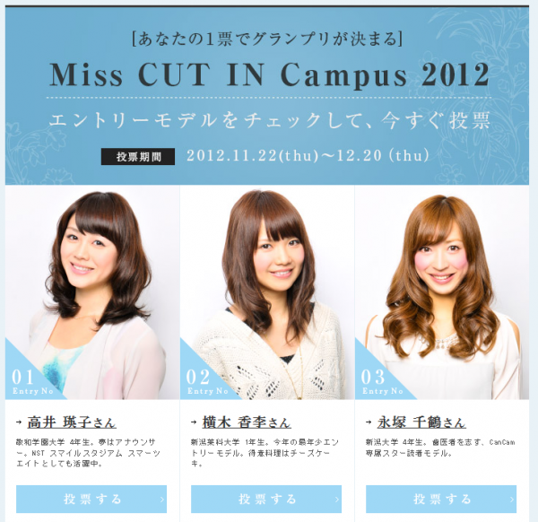 Miss CUT IN Campus 2012