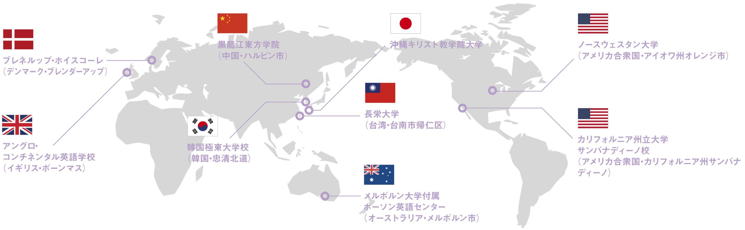 提携校への留学プログラム(短期留学/長期留学)